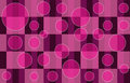 Pink Plaid Bubbles Royalty Free Stock Image