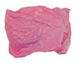 Pink plastic bag on a white background Royalty Free Stock Image