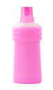 Pink plastic bottle Royalty Free Stock Photo