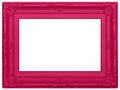 Pink plastic picture frame molded baroque styled modern isolated on a white background Royalty Free Stock Photography