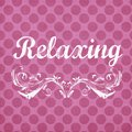 Pink polka dot background with relaxing sentiment which can be used for decor stationary art and more Royalty Free Stock Images
