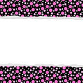 Pink Polka Dot background for your message or invitation Royalty Free Stock Image