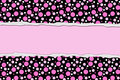 Pink Polka Dot background for your message or invitation Royalty Free Stock Photo