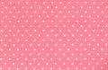 Pink polka dot fabric background Royalty Free Stock Photos