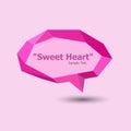 Pink polygonal geometric speech bubble