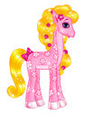 Pink Pony Girl Stock Photography