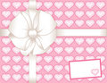 Pink Present, Hearts, Gift Card Stock Images