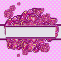 Pink-purple Abstract Design Stock Photography