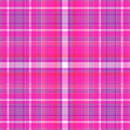 Pink and purple plaid background Stock Photos