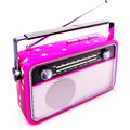 Pink radio high resolution rendering of an Royalty Free Stock Photo