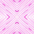 Pink red Geometric Watercolor. Delicate Seamless Pattern. Hand Drawn Stripes. Brush Texture. Modern