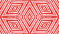 Pink red Geometric Watercolor. Delightful Seamless Royalty Free Stock Photo