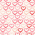 Pink and red hearts beautiful seamless background with cute Stock Photo