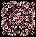 Pink with red symmetric design Stock Photo