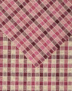 Pink and red vichy pattern. Royalty Free Stock Image