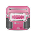 Pink retro radio icon Royalty Free Stock Photo