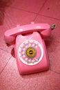 Photo : Pink Retro Telephone smiling