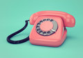 Pink retro telephone Royalty Free Stock Photo