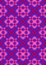 Pink rhombuses on purple checkered seamless background Royalty Free Stock Photography