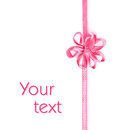 Pink ribbon with bow-flower Royalty Free Stock Photo