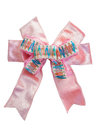 pink ribbon bow with isolated