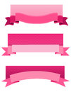Pink ribbon web banner Royalty Free Stock Photo