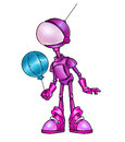 Pink robot air ball Royalty Free Stock Photo
