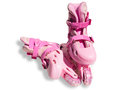 Pink roller skates on a white background Royalty Free Stock Photography
