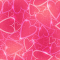 Pink romantic seamless pattern with hearts vector many on the background Stock Images