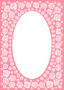 Pink rose frame border Royalty Free Stock Images