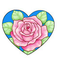 Pink Rose Heart Royalty Free Stock Photography