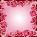 Pink Roses Border Frame Top Side Bottom Royalty Free Stock Photo