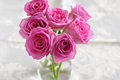 Pink roses bouquet of small Royalty Free Stock Photography