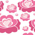 Pink roses pattern Royalty Free Stock Photo