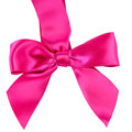Pink Satin Bow Stock Image