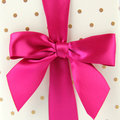 Pink Satin Bow Royalty Free Stock Images