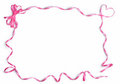 Pink satin ribbon frame Stock Image