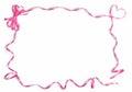 Pink satin ribbon frame Royalty Free Stock Photo