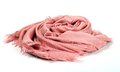 Pink scarf beautifull isolated on white background Royalty Free Stock Photos