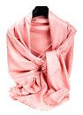 Pink scarf beautifull isolated on white background Royalty Free Stock Images