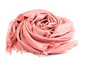 Pink scarf beautifull isolated on white background Royalty Free Stock Photography