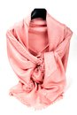 Pink scarf beautifull isolated on white background Stock Photo
