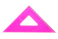 Pink school triangle isolated on white background Stock Image