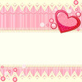 Pink scrapbook background with heart Royalty Free Stock Photography