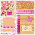 Pink scrapbook kit little girls Royalty Free Stock Photo