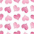 Pink Scribbled Heart Pattern Royalty Free Stock Photos