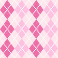 Pink seamless argyle pattern for valentines day in shades vector background Royalty Free Stock Photography
