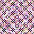 Pink seamless diagonal square pattern background design - vector graphic Royalty Free Stock Photo