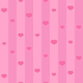 Pink seamless heart pattern. Background with hearts and stripes