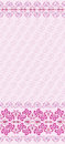 Pink seamless pattern with wide border a bright in eastern style Stock Image